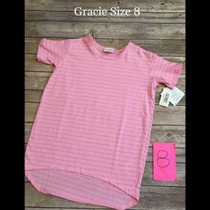 LuLaRoe Girls Gracie Pink size 8 NWT
